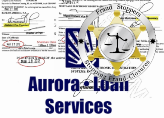 AURORA LOAN SERVICING ADMITS TO FABRICATING ALLONGES & INDORSEMENT PAGES TO ILLEGAL FORECLOSE ON HOMES