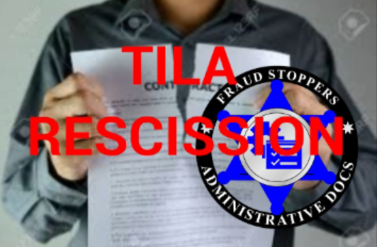 FRAUD STOPPERS 20 Points of TILA Rescission