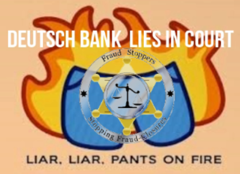 Deutsch Bank Lies in Court