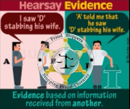 FRAUD STOPPERS How to Use Hearsay Evidence to Win a Foreclosure Case